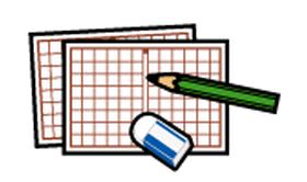 ■原稿用紙と鉛筆・消しゴム